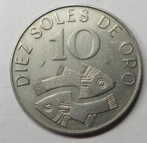 Peru 10 Soles 1969 Copper-Nickel KM#253