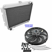 "1972 Plymouth Roadrunner 4 Row Aluminum CHAMPION RADIATOR & 16"" Fan"