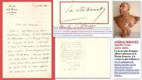 Autographe Amédée-Louis RIBOURT (1821-1893) AMIRAL aux 15 Campagnes de guerre...