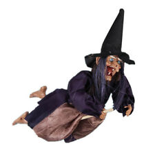 Horror Sound Broomstick Witch Toy Ornament Halloween Haunted House Bar Decor Kit