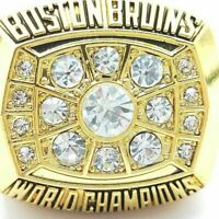 1972 Boston Bruins Orr NHL Stanley Cup 18k Gold Plated Championship Ring