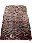 "Antique Handmade Ethnic Native Tribal Oriental Geometric Carpet Rug 48""x33"""