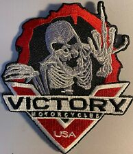 Victory Motorcycles USA Skeleton Middle Finger Patch RARE