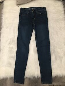 American Eagle Womens Medium Washed Super Stretch Jegging Denim Jeans Size 4