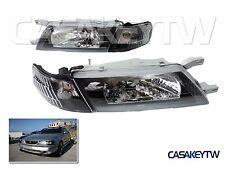 DHL - Headlights + Corner Lamps for NISSAN Sentra B14 200SX SE-R 1995-1999-Black