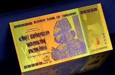 "★★ ZIMBABWE : BILLET POLYMER  "" OR "" DU 100 000 000 000 000 DOLLARS  ★"