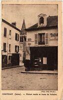 CPA CHATENAY Maison natal et buste de Voltaire (413666)