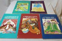 Set of 5 Brothers Grimm Classroom Teachers Big Books Vintage Illustrated Books