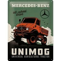 Mercedes Benz Unimog  Nostalgie Blechschild 40 cm NEU  shield