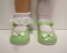 GREEN Patent Mary Jane Doll Shoes w//Satin Bow For Chatty Cathy Debs