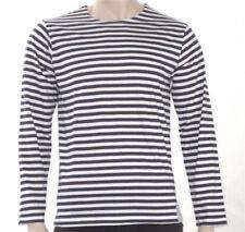 Camisetas de hombre de manga larga negra sin marca