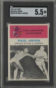 1961 Fleer #45 Paul Arizin rookie