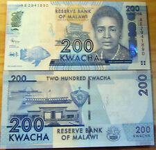 """BILLETE """"  MALAWI  """"  200  KWACHA     AÑO   2012   UNC    PLANCHA"""
