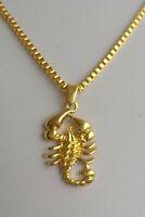 NEU Kette mit Anhänger Skorpion 18 K vergoldet Sternzeichen Herren Damen Gold
