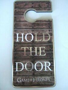 PRIMARK GAME OF THRONES HOLD THE DOOR Hodor Door Sign Hanger  - Brand New