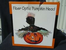 Plastic Fiber Optic Pumpkin Head/Jack-o-lantern