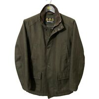 Barbour Men's Herringbone Challenger Tweed Sporting Waterproof Jacket Olive S 38
