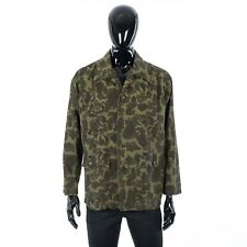 CELINE 1300$ Military Overshirt In Camouflage Printed Cotton & Ramie