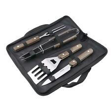 Portable Outdoor Barbecue Tool BBQ Grill Stainless Steel Barbecue 4PC/Set