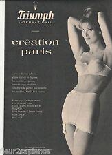 PUBLICITE de presse Lingerie Gaine Triumph 1963  French ad