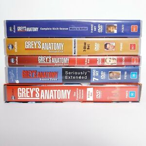 Greys Anatomy Series Seasons 2 to 6 DVD Set Region 4 PAL AUS Free Postage