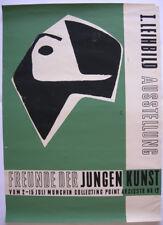 Orig. Plakat Ausstellung Junge Kunst Collecting Point München I. Leihbild
