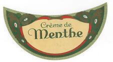 Creme de Menthe, Nalco, Inc. NYC antique liquor bottle stock label no.4517D #143