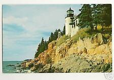 Bass Harbor Head Light McKinley Maine Lighthouse Postcard
