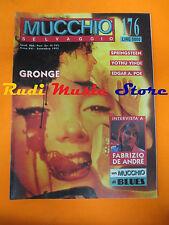 Rivista MUCCHIO SELVAGGIO 176/92 Springsteen Fabrizio De Andre Yothu Yindi *Nocd