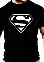 Superman Gym T Shirt MMA Casual Wear  workout Muscle training clothes top tee