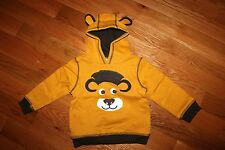 NWT Gymboree Bright Beasts Size 4T-5T Yellow Lion Fleece Hoodie Sweatshirt Top