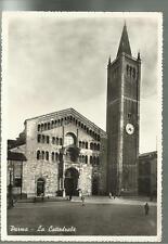 vecchia cartolina di  parma la cattedrale spedita nel 1950