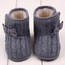 ^Toddler Baby Crochet/Knit Fleece Boots Girl Toddler Snow Booties Crib Shoes 13