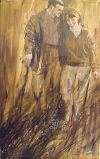 Prolific, acclaimed Philip W. Smith original vtg. couple illustration signed art