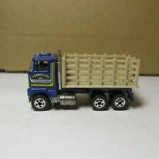 OLD DIECAST HOT WHEELS BLACKWALL FORD STAKE BED TRUCK BLUE MADE IN MALAYSIA