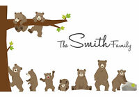 Personalised Bears Family Tree Picture BUILD YOUR OWN Family Christmas Gift!