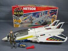 "M.A.S.K. 1987 ""METEOR w/ ACE RIKER"" 100% Complete w/ Box Vintage Kenner Mask"