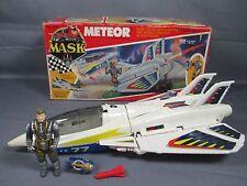 "M.A.S.K. 1987 ""METEOR w/ ACE RIKER"" 100% Complete w/ Box Vintage Kenner Mask"