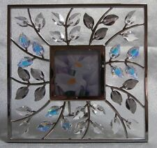 "SWAROVSKI SILVER CRYSTAL "" SQUARE PICTURE FRAME LEAVES"" 861932 MINT IN BOX"