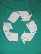 XL green RECYCLE LOGO t-shirt by M&O KNITS