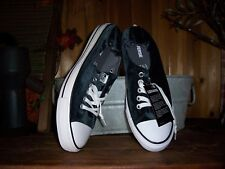CONVERSE LADIES CASUAL SHOES SIZE 11 BLACK WITH BLUISH HUE SOFT OUTER TEXTURE