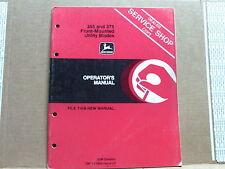 ORIGINAL! John Deere 365,375 Blades manual,tractor,operators manual red