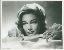 Simone Signoret sexy 8x10 publicity photo smoking cigarette