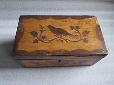 Original Antique 1800s American  Renaissance Revival Wood Inlay Marquetry Box