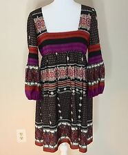 Jessica Simpson Women's Dress size 10 Long Bell Sleeve Boho Square Neckline D10