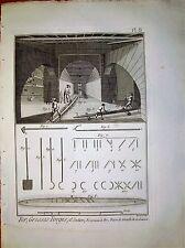 91-3-x Gravure 1783 Panckoucke fer grosses forges, fourneau à fer, soufflets
