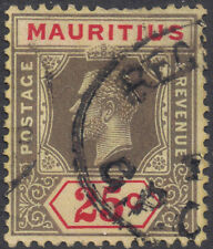 Mauritius 1932 25c black & red/pale yellow die I sg 236a used