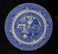 VINTAGE BRITISH ANCHOR  OLD WILLOW PATTERN PLATE