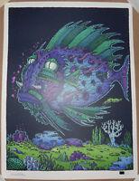 David Welker Passenger Fish Signed #d/250 Screen Print Poster Regular Bottleneck