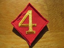 USMC US MARINE CORPS 4th Marine Division Patch Footed Four w/ tag
